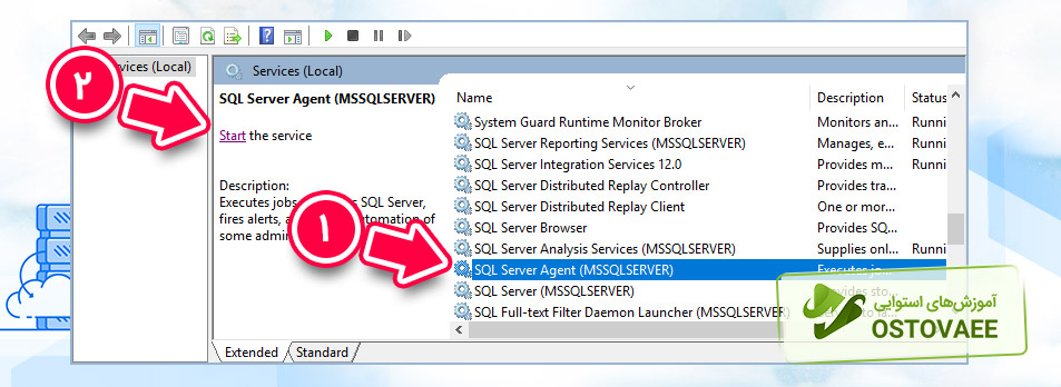 سرویس Sql Server Agent | استوایی
